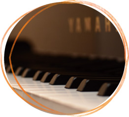 YAMAHAピアノの鍵盤